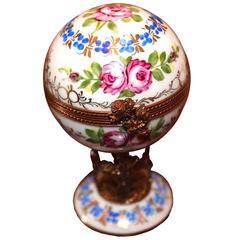 French Limoge Peint Main Trinket Egg