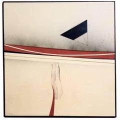 "Bijan Bahar Acrylic on Plywood ""Reach or Flying Primed"""