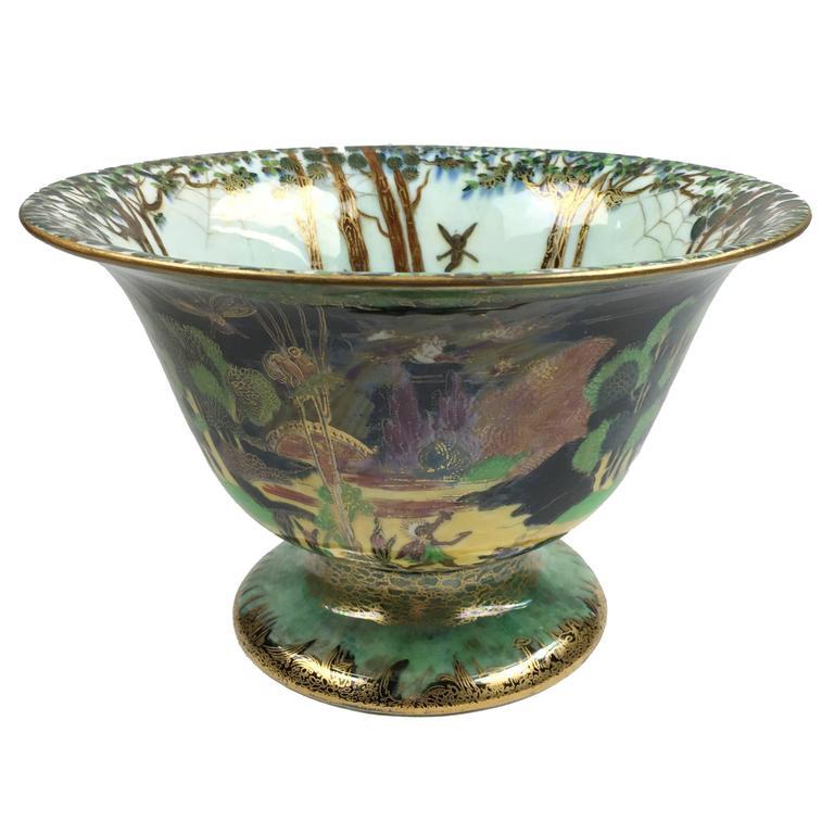 wedgwood art deco porcelain fairyland lustre center bowl for sale at 1stdibs. Black Bedroom Furniture Sets. Home Design Ideas