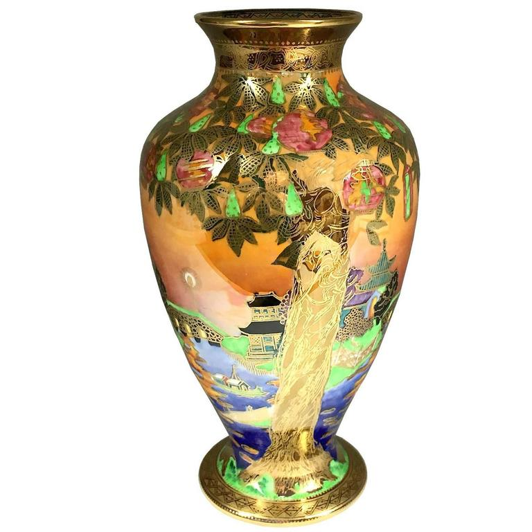 Wedgwood Porcelain Art Deco Fairyland Lustre Willow Vase 1