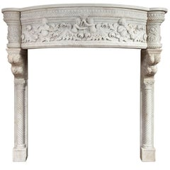 Venetian Renaissance Style Marble Mantel