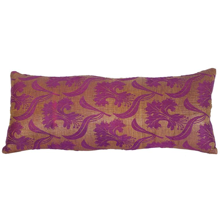 Pillow Made Out of a Late 19th Century Ottoman Turkish Textile For Sale