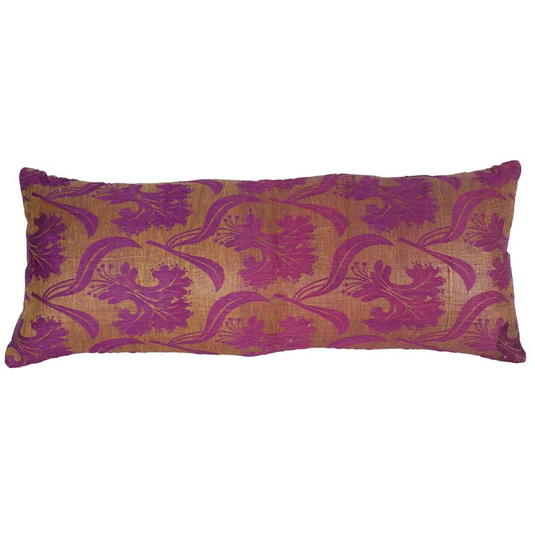 Pillow Made Out of a Late19th Century Ottoman Turkish Textile For Sale