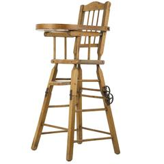 American Doll's Wooden 3-in-1 High Chair Furniture