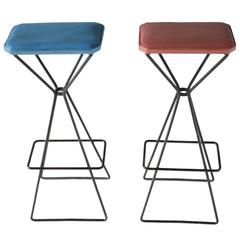 Pair of Sculptural Bar Stools
