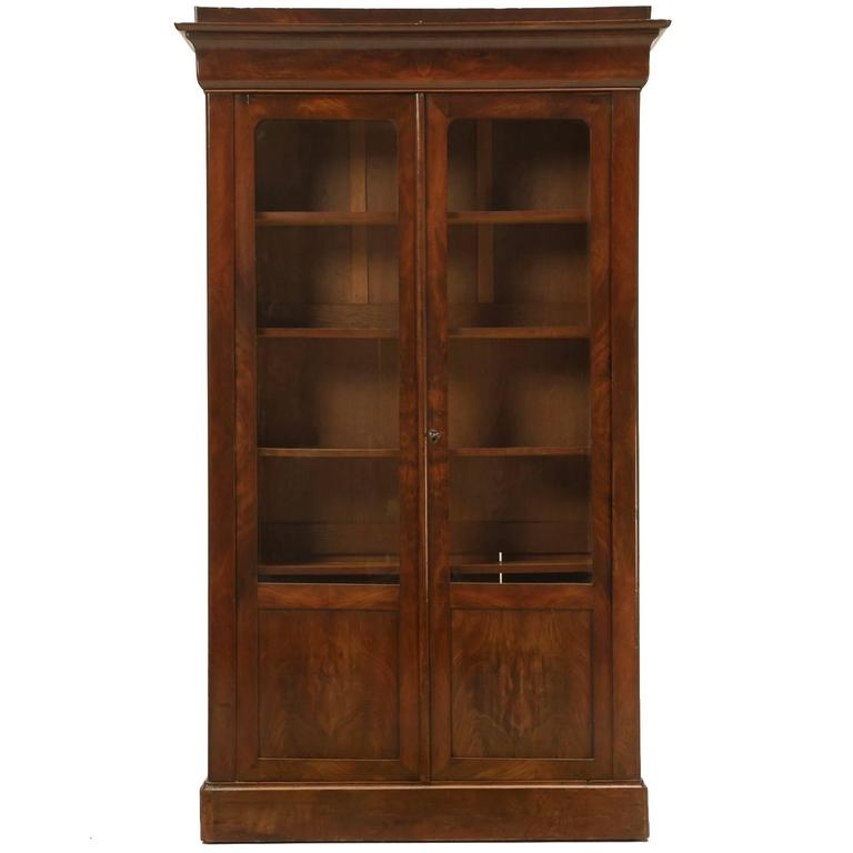 Antique French Louis Philippe Style Bookcase For Sale