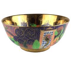 Wedgwood Fairyland Flame Lustre Porcelain Art Deco Serving Bowl