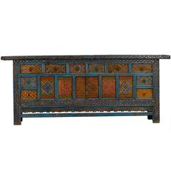 Large Chinese Xinjiang Elaborately Painted Cabinet