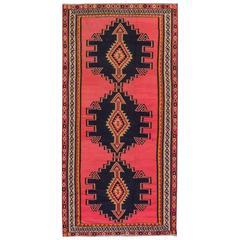 Apadana - Vintage 1950s Red/Brown Turkish Kilim Rug, 5.01x10.04