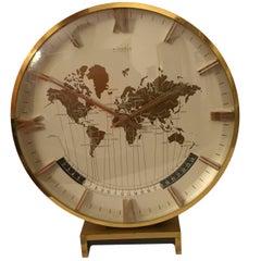 Big Kienzle Weltzeituhr Modernist Table World Timer Zone Clock