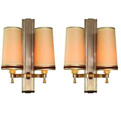 Maxime Old, Pair of Sconces, 1946