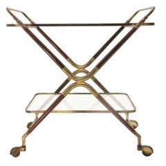 Italian Vintage Bar Cart by Cesare Lacca, 1950s