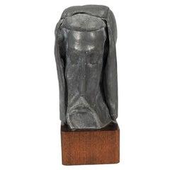 B. Brooks 1971 Sculpture of a Shrouded Man