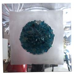 "Angelo Brotto,""Oceano"" Panel, Glass of Murano, Production Esperia, circa 1974"