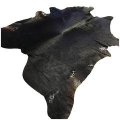 Natural Black Cowhide Rug