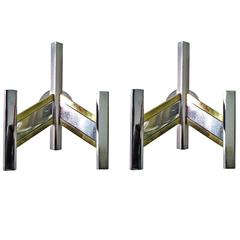 Pair of Italian Mid-Century Sconces by Sciolari