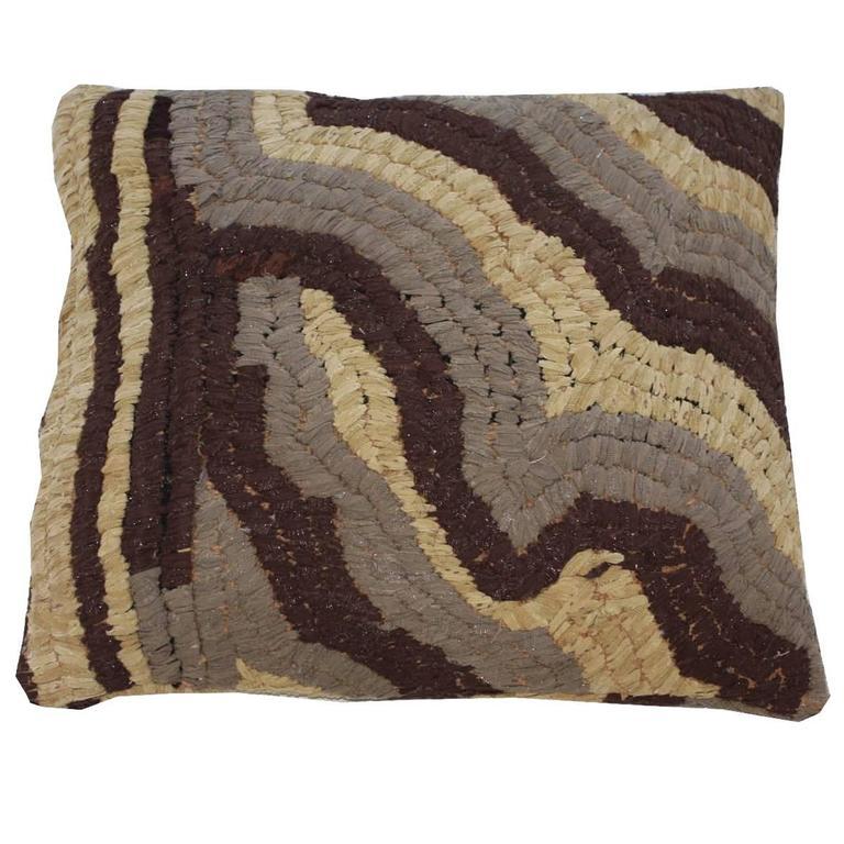 Vintage Textile Floor Pillow For Sale