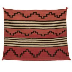 Native American Child's Chiefs Blanket, Navajo, 19th Century
