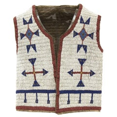Antique Native American Beaded Child's Vest, Sioux (Plains), 19th Century