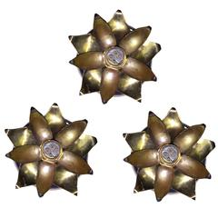 Set of Three Arts and Crafts Ceiling Lights