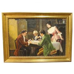 Oil Painting on Canvas by Jan Van Mans, 1930s