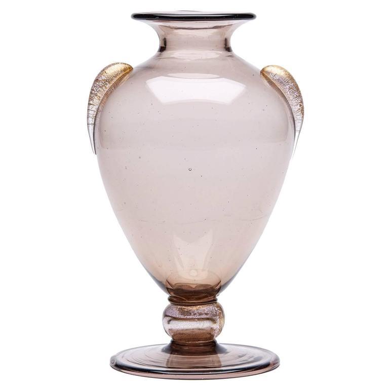 Vintage Murano Martinuzzi Soffiato Glass Vase Circa 1920 At 1stdibs