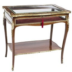 Antique Rosewood and Marquetry Bijouterie Display Table