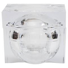 1970s Lucite Globe Ice Bucket