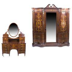 Antique Victorian Bedroom Suite by Edwards & Roberts, circa 1880