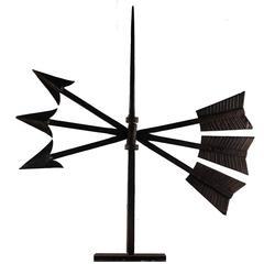 Late 19th Century Three Crossed Arrows Weathervane