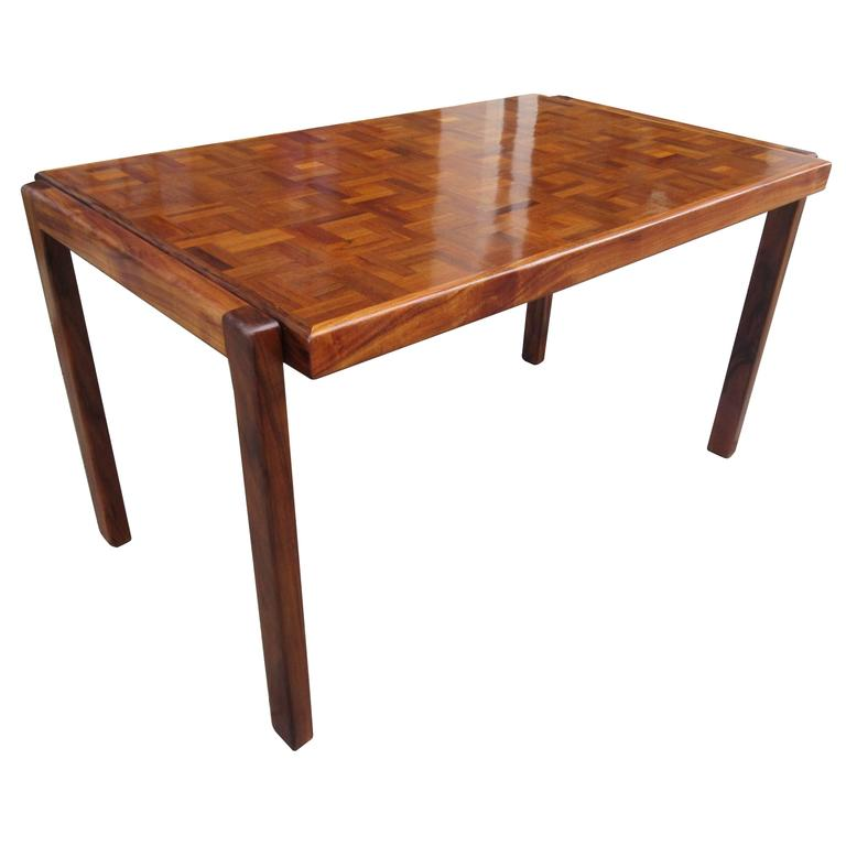 parquet dining table parquet 1960s dining table at 1stdibs 1416