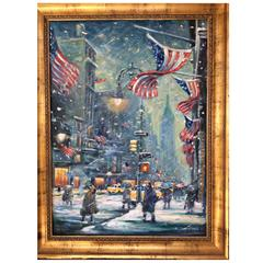New York Snowy Night Painting by Philip Corley