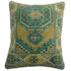 Green Yastik Rug Pillow