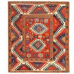 Antique Borchalou Kazak Rug