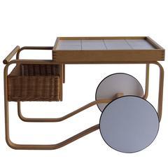 Mid Century Modern Alvar Aalto Tea Cart