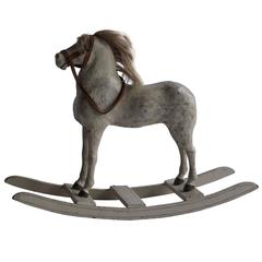 Late 19th Century Swedish Toy Horse in Wood