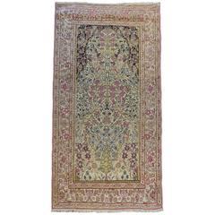 19th Century Lavar Kirman Prayer Rug