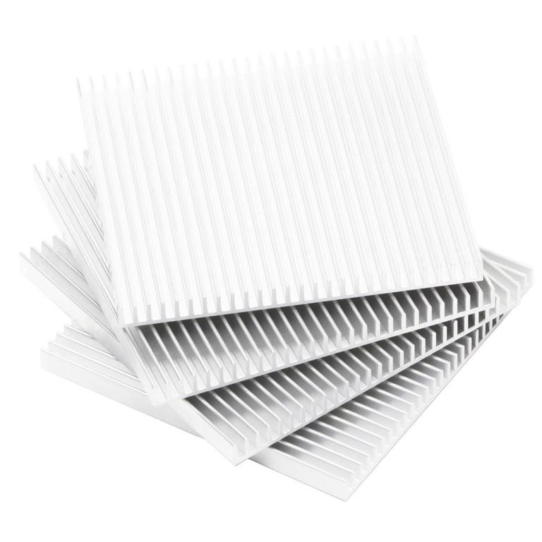 Fin Coasters from Souda, Set of four, Silver, Modern Aluminum Coaster Set
