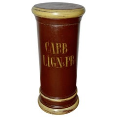 18th Century Wooden Apothecary Jar