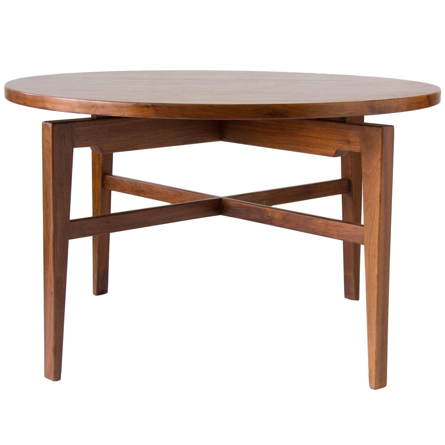 Jens Risom Lazy Susan Game Table at 1stdibs