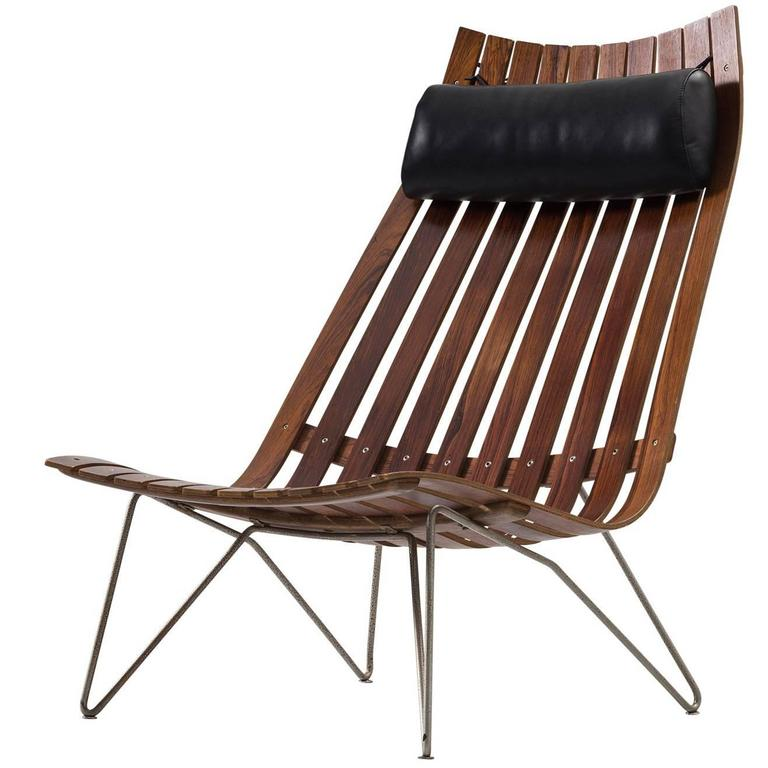 Hans Brattrud 39 Scandia Senior 39 Lounge Chair In Rosewood For Sale At 1