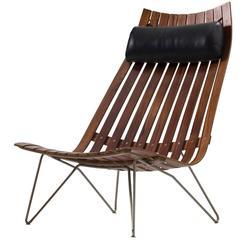 Hans Brattrud 'Scandia Senior' Lounge Chair in Rosewood