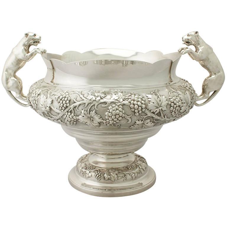 Antique George V Sterling Silver Presentation Bowl For Sale