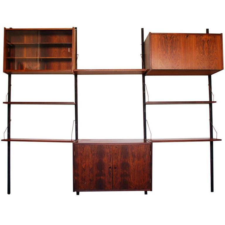 Danish Rosewood Cado Style Ps Wall Unit by Peter Sorensen for Randers For Sale