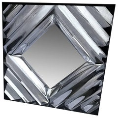 Square Mid-Century Modern Wall Mirror