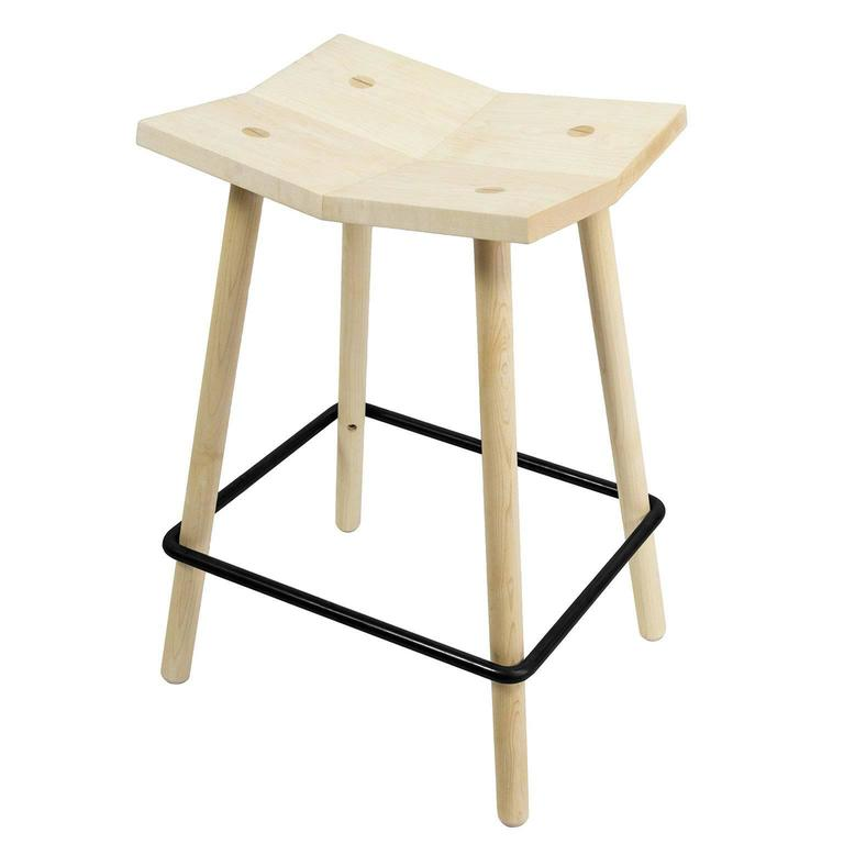 mitre counter stool from souda modern wooden counter height stool for sale at 1stdibs. Black Bedroom Furniture Sets. Home Design Ideas