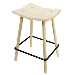 Mitre Counter Stool from Souda, Modern Wooden Counter-Height Stool