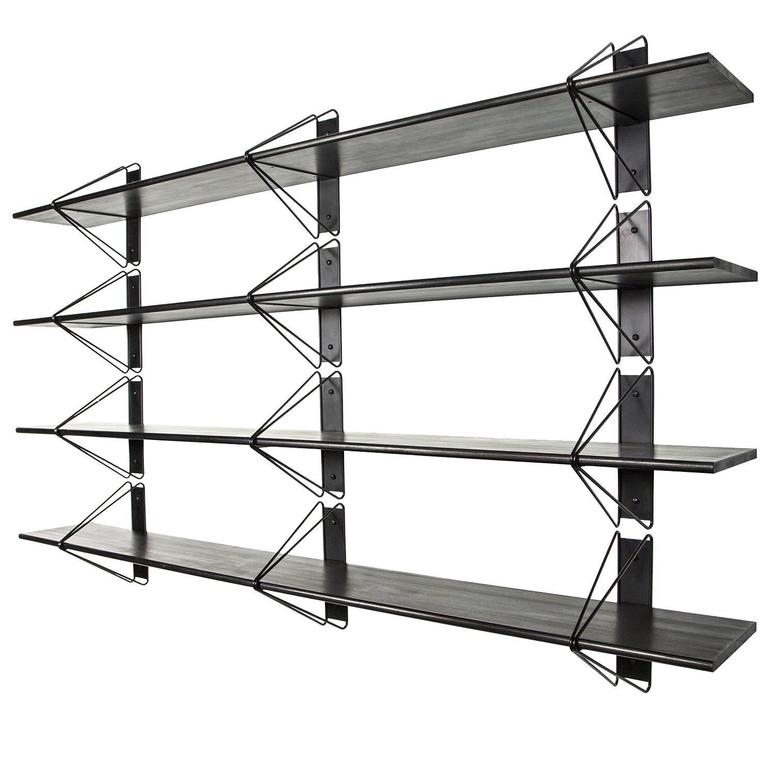 Set of 4 Strut Shelves from Souda, Black, Made to Order