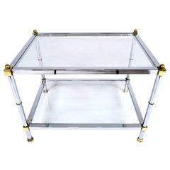 1960's Mid-Century Chrome Side Table