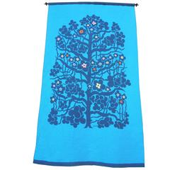 Monumental Mid-Century Swedish Tapestry of the Tree of Life Design